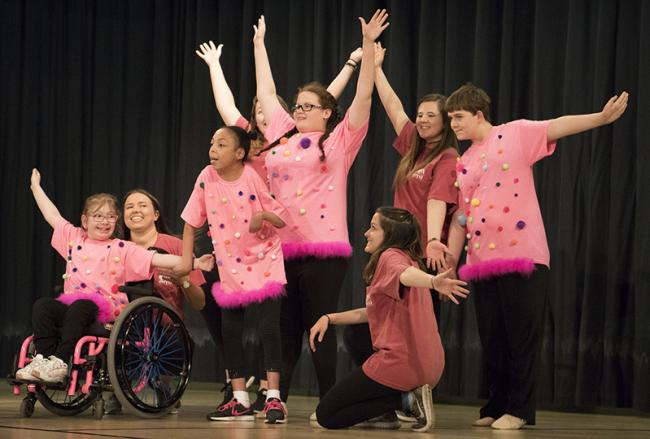 Students dance in the spring recital